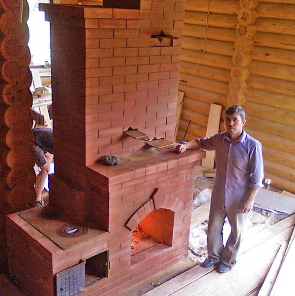 Печи и камины для дома из кирпича своими руками